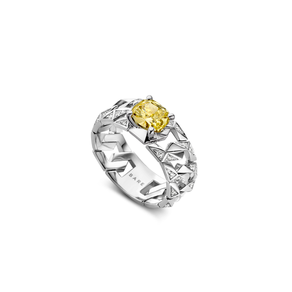 """Fancy Yellow BOND Signature High Jewelry Ring"""