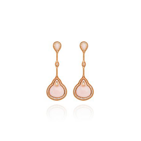 """FLUID DIAMONDS"" DROPLET ON STONE EARRINGS"
