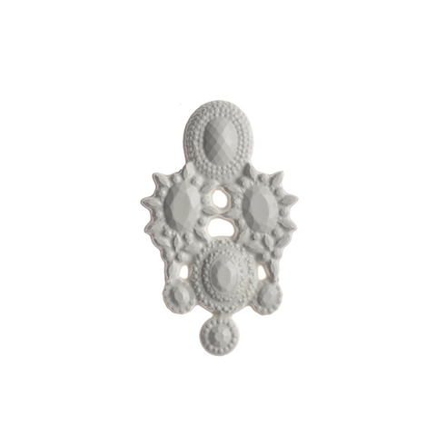 WHITE MAGNETIC SILICONE BROOCH