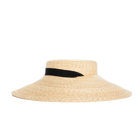 """5mm braid straw hat wide"" Natural"