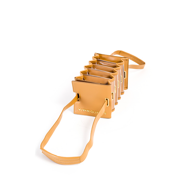 "MINI ""ACCORDION BAG"" CAMEL"