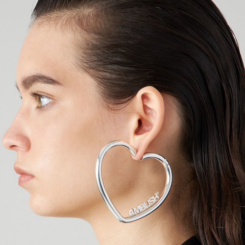"""HEART HOOP"" GOLD-TONED EARRINGS"