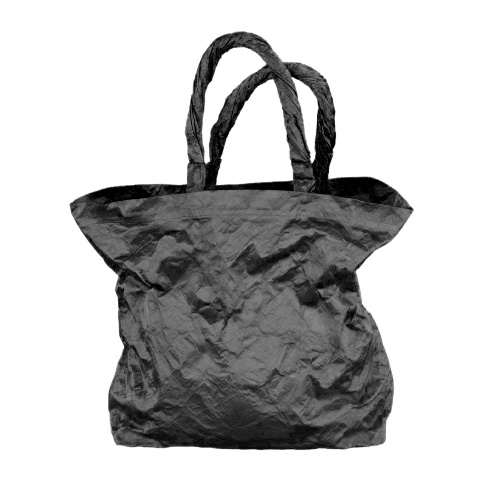 BLACK SATIN SWIM BAG