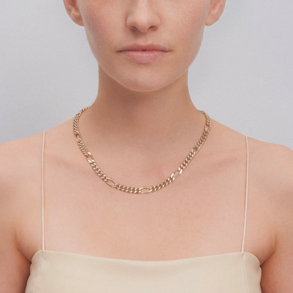 """KIM"" GOLD NECKLACE"