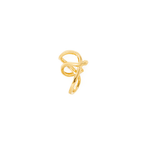 "MINI ""SPACE WARP"" GOLD VERMEIL MONO EAR CUFF"