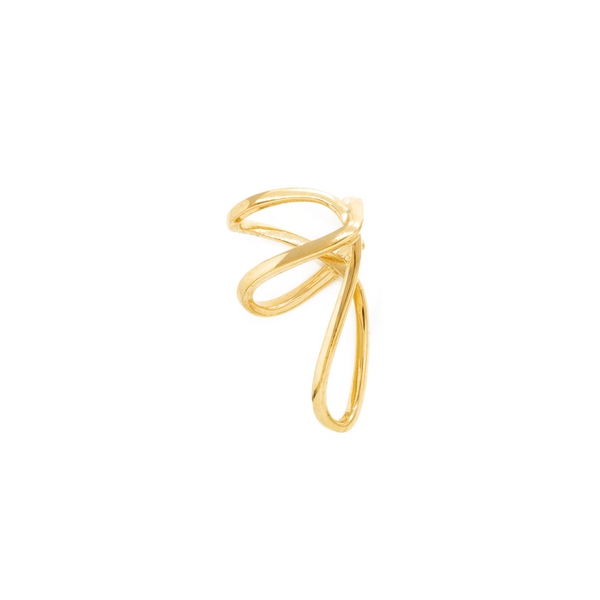 """SPACE WARP"" GOLD VERMEIL MONO EAR CUFF"