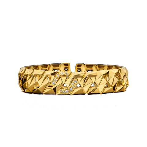 """BOND SIGNATURE YELLOW GOLD M"" BRACELET"