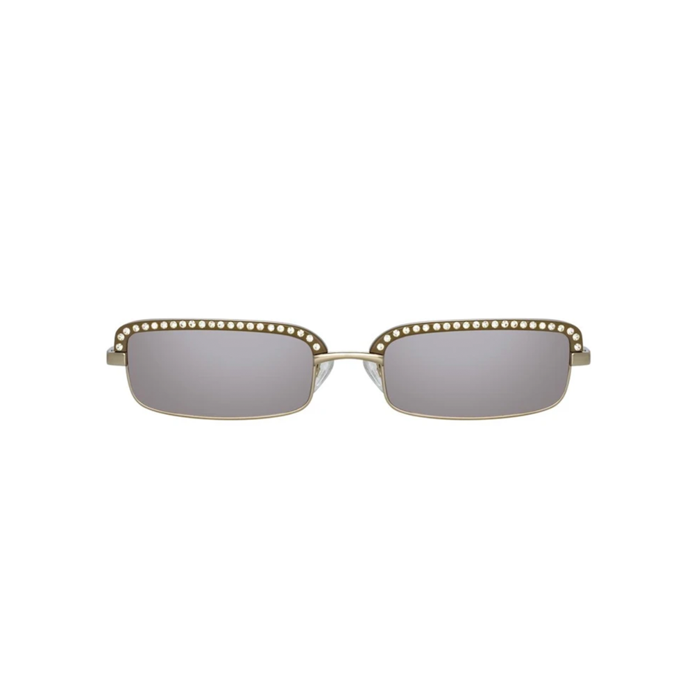 "THE ATTICO X LINDA FARROW ""DANA"" RECTANGULAR SILVER SUNGLASSES"