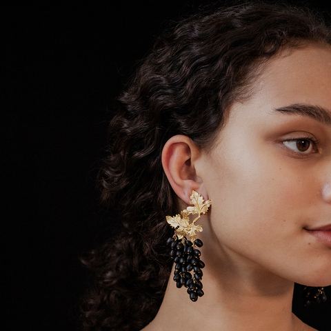 """LAILA"" Black Earrings"