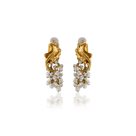 """FRANCA"" Ivory Earrings"