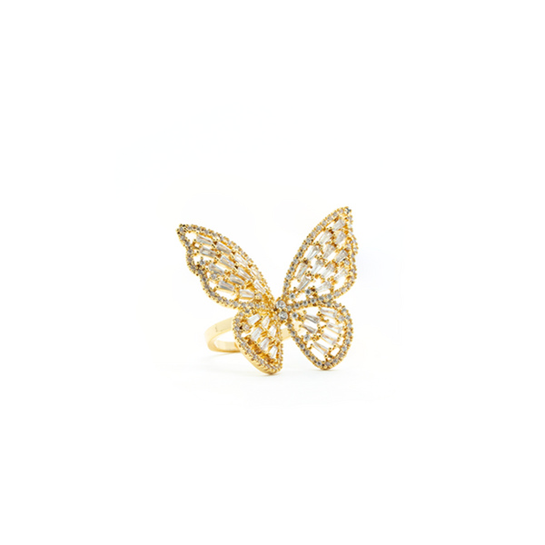 """Crystal Butterfly"" Ring"