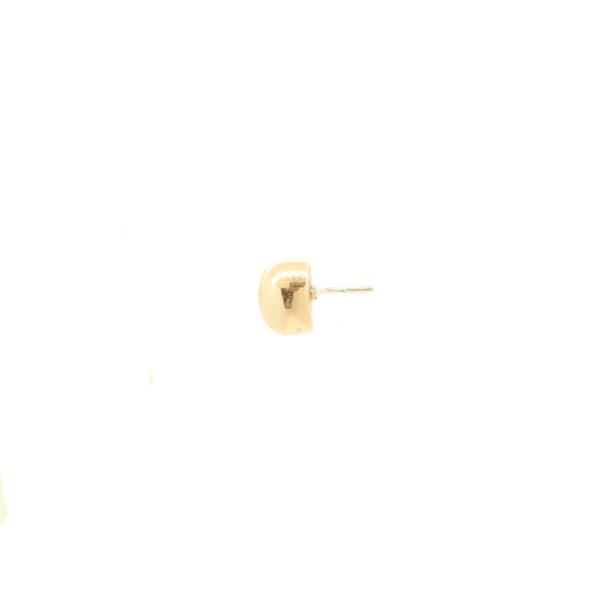 """18k Yellow Gold Cylinder Shape Piercing"" Stud"