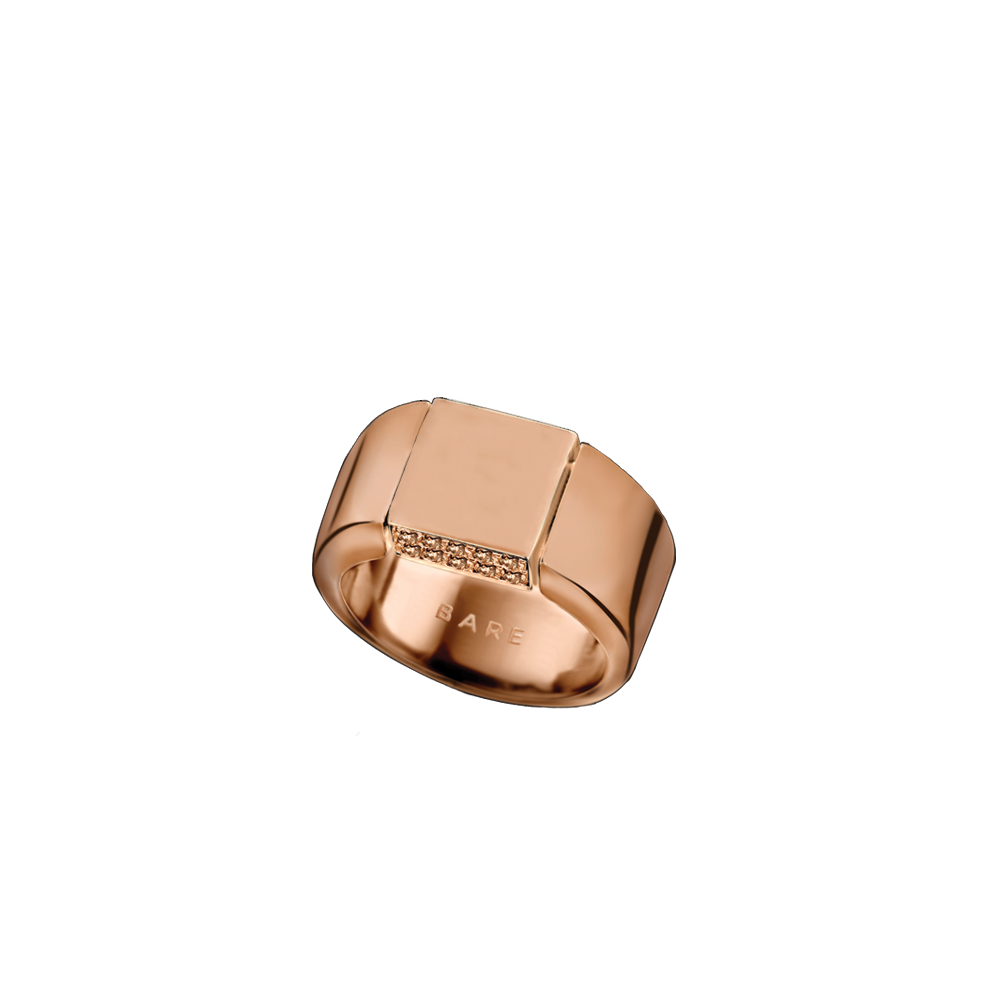 """SIGNET"" PINK REVERSIBLE RING"