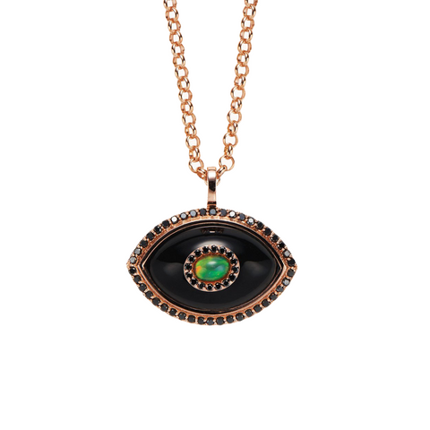 """Eyecon Black Onyx"" Necklace"