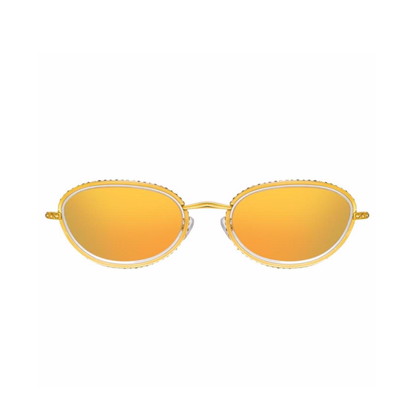 """Area 1 oval sunglasses in Yellow Gold Tone"""