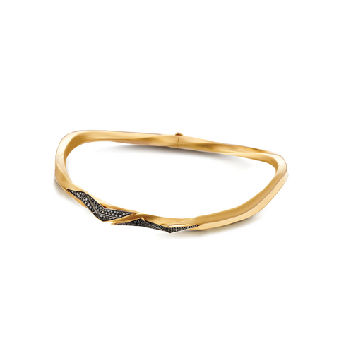 """CARIOCA"" YELLOW GOLD & BLACK DIAMOND CHOKER"