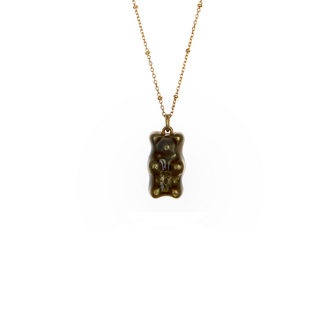 """LIQUORICE"" 18K GOLD-PLATED NECKLACE"