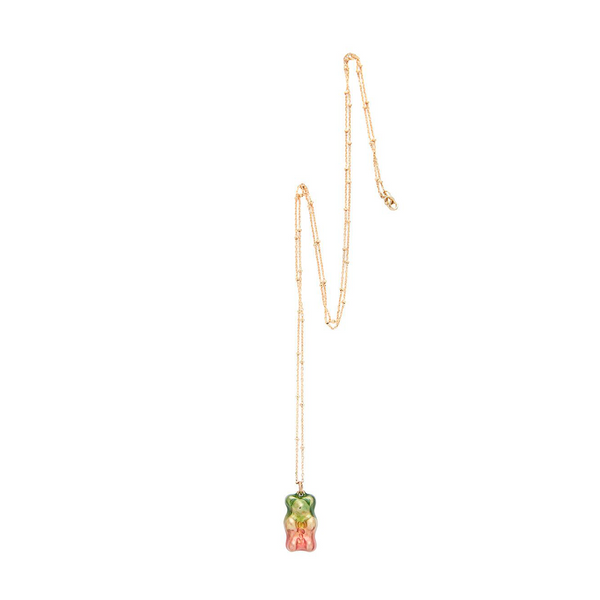 """WATERMELON"" 18K GOLD-PLATED NECKLACE"