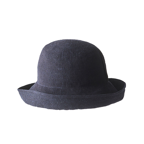 """PAPER BRAID"" WIDE HAT - INDIGO PAPER"