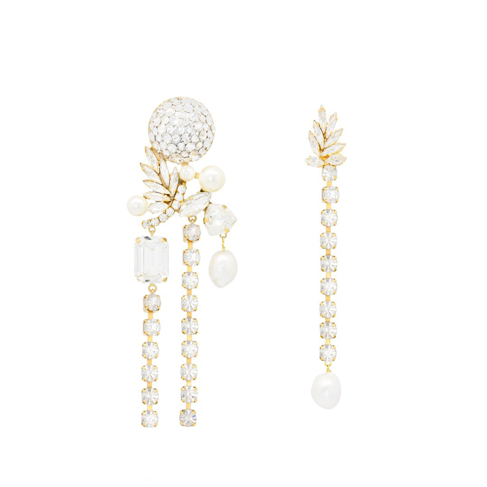 """IVY"" CRYSTAL & PEARL EARRINGS"