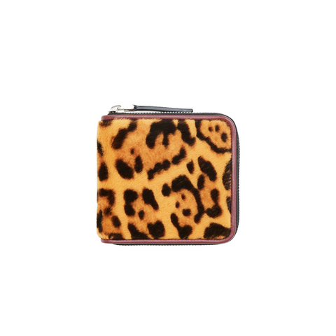 """Wallet in leopard style"" in Lamb skin"