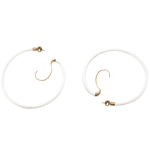 """Upside Down Hoops XXL"" Earrings"