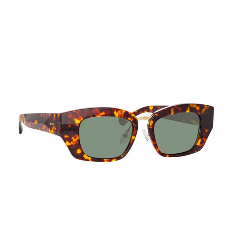 "DRIES VAN NOTEN X LINDA FARROW ""202"" ROUND TORTOISE SUNGLASSES"