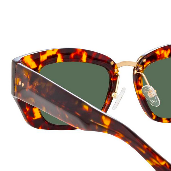 """Dries Van Noten 202"" Round sunglasses in Tortoise"