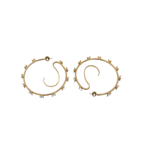 """Upside Down Hoops M"" Earrings"