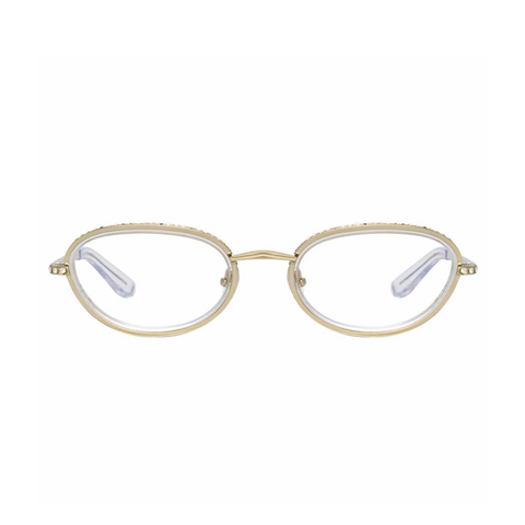 AREA X LINDA FARROW CLEAR GLASSES