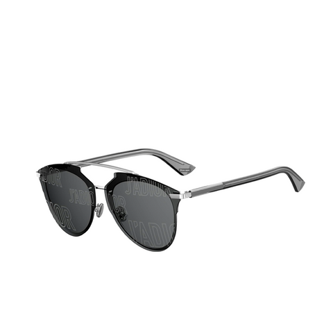 """REFLECTED P"" GREY SILVER MIRROR J'ADIOR SUNGLASSES"