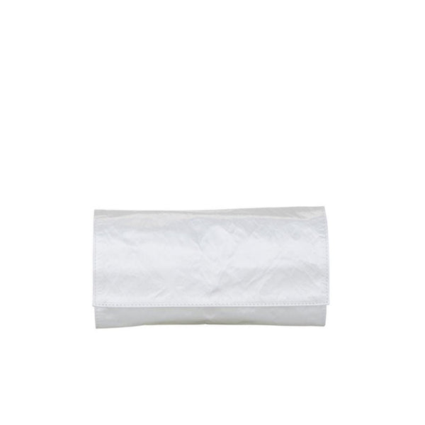 """Satin Medium Clutch"" Bianco"