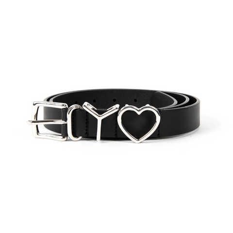 """Y Heart Belt 25mm"" Black"