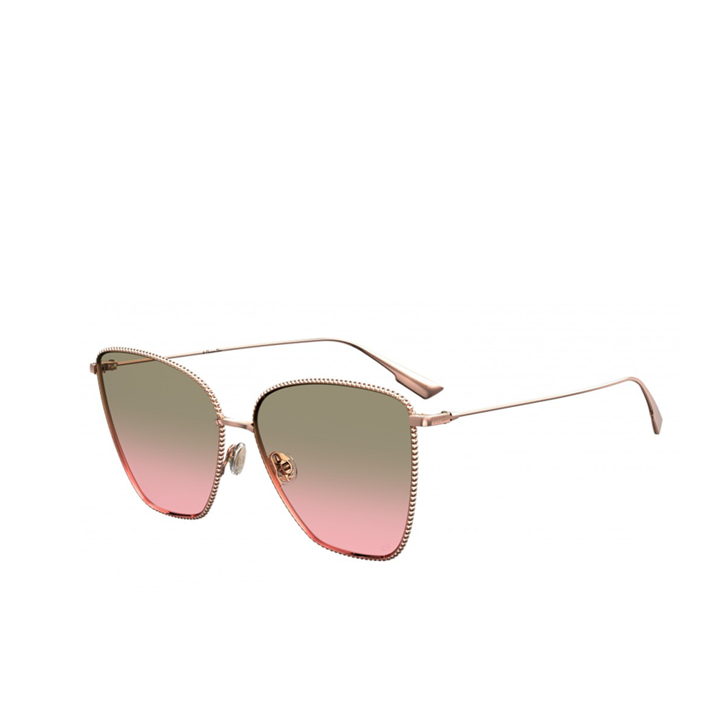 """Society1"" DDB Rose Gold/Brown Pink Shaded Sunglasses"