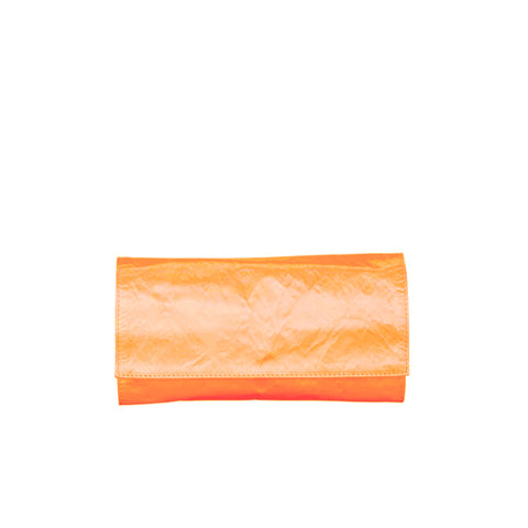 MEDIUM MANDARINO SATIN CLUTCH