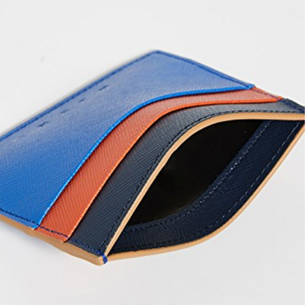 """Wallet"" Navy/Orange/Black"