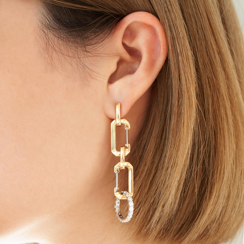 """CHIARA"" SMALL YELLOW GOLD MONO EARRING"