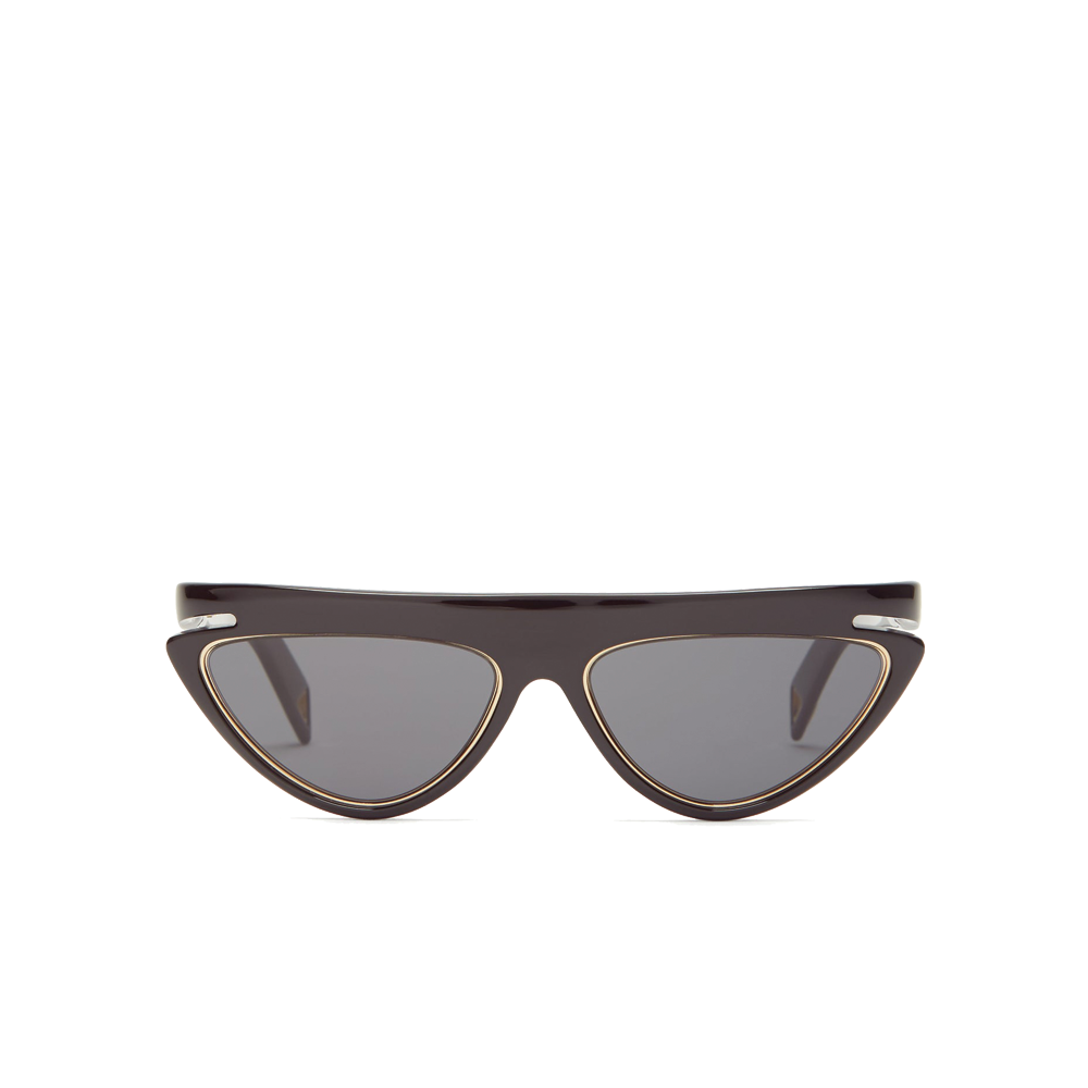 """FFLUO"" BLACK/GREY CAT EYE SUNGLASSES"