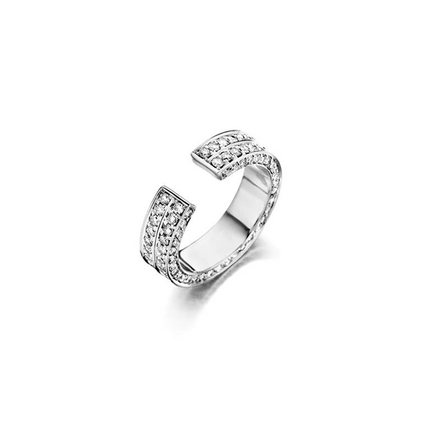 """BRUTE"" WHITE DIAMOND & WHITE GOLD RING"