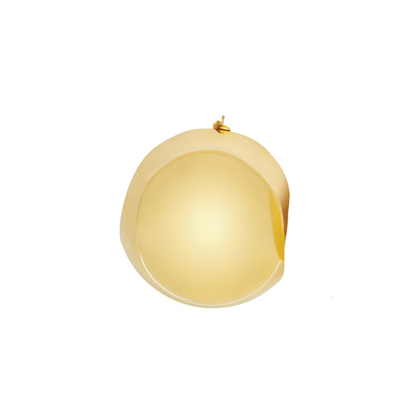"""BALL"" GOLD-TONED MONO EARRING"