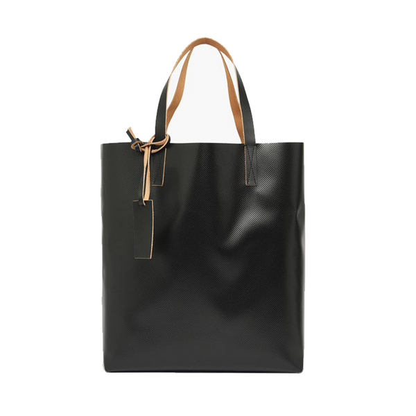 """Tribeca Shopping Bag"" Beige/Black"