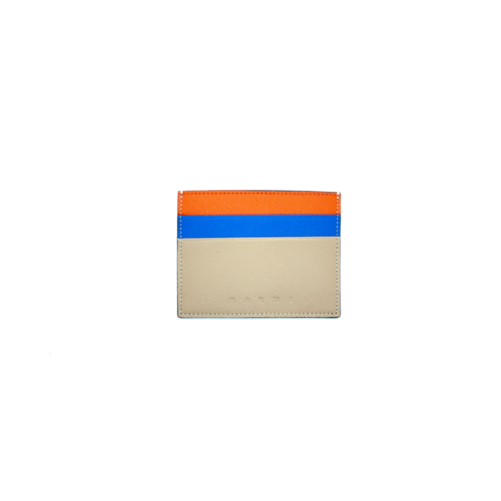 ORANGE/NAVY/BEIGE CARDHOLDER