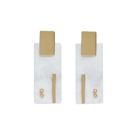 """Pendientes Ellen"" Marble Earrings"