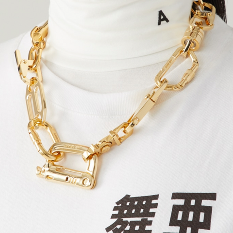 """Carabiner 1 Necklace"" Brass"