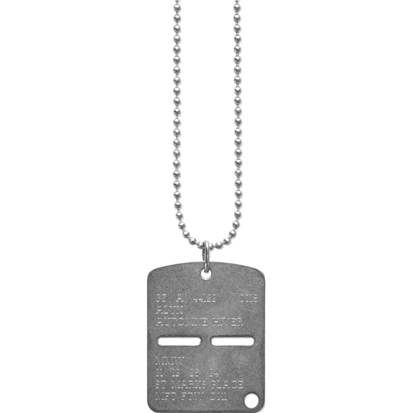 """MILITARY"" DOG TAG NECKLACE"