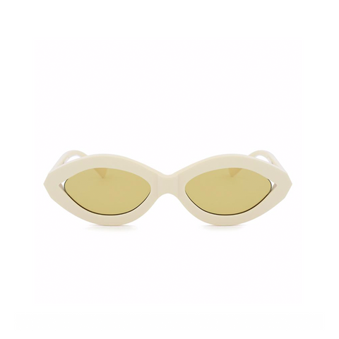 """ZOOM"" IVORY/GOLD SUNGLASSES"