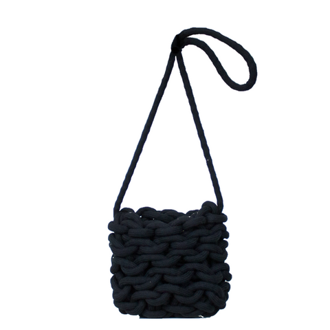 """ELLA BUCKET BAG"" BLACK"