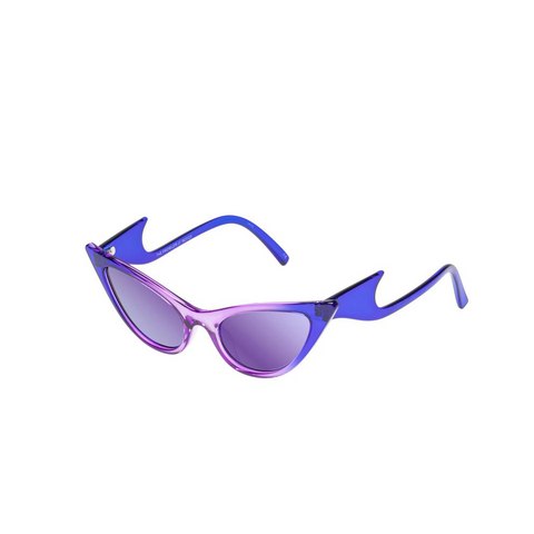 """THE PROWLER"" COBALT VIOLET FADE SUNGLASSES WITH PURPLE MIRROR LENSES"