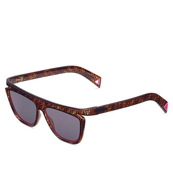 """FFLUO"" NEON PINK / HAVANA BROWN SUNGLASSES"