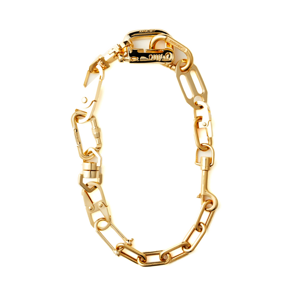 """CARABINER 1"" GOLD-TONED NECKLACE"